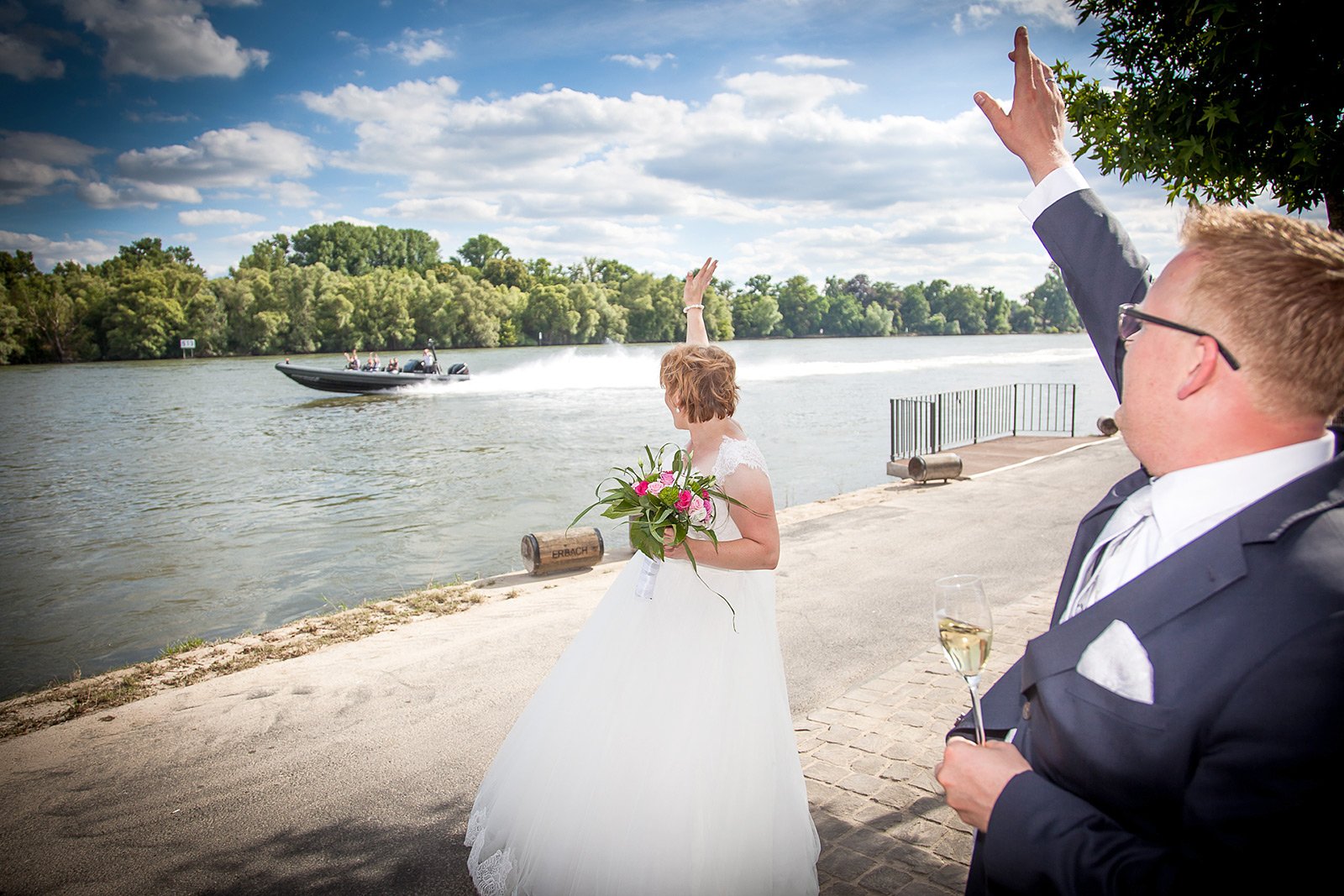Wedding Party Rhine River